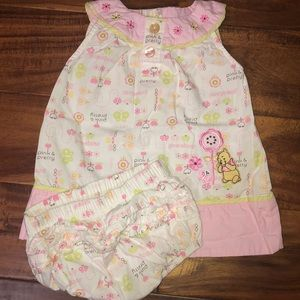 Disney Winnie the Pooh dress with diaper cover